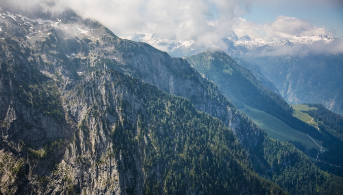 Mist over Berchtesgaden from the Eagle's Nest