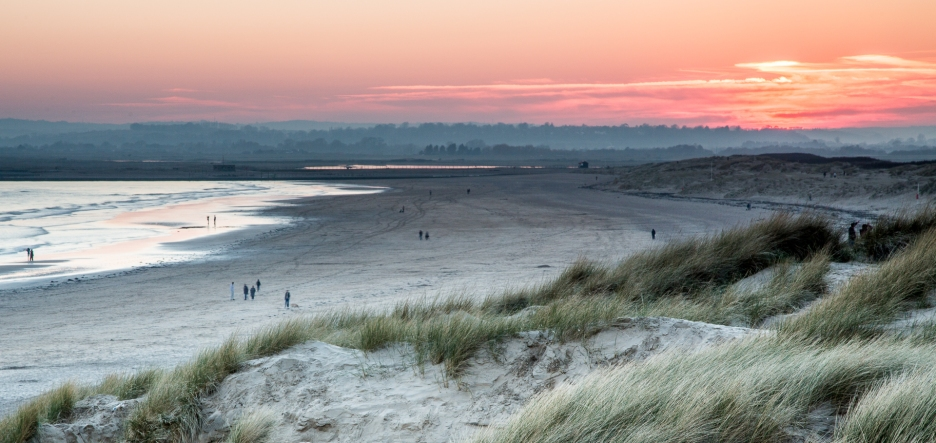 Spring sunset at Camber Sands