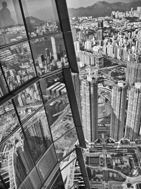 High above Hong Kong