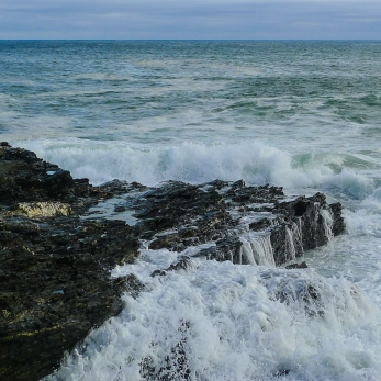 Of the coast of Porthleven