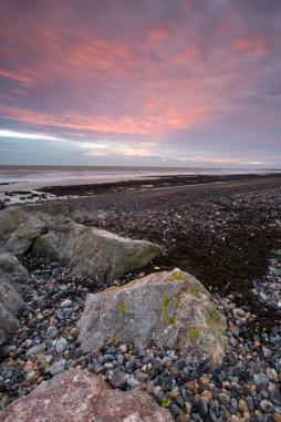 View over the pebble beach, near Brighton