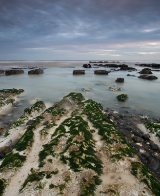 Slow exposure of Rottingdean at low tide