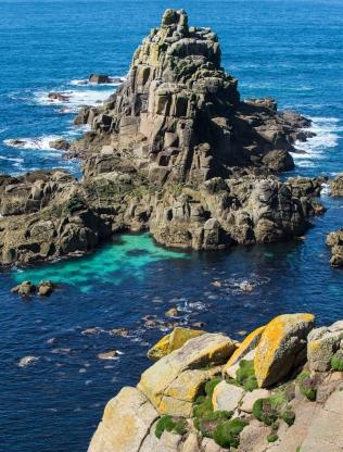 Blue seas off the Cornish coast