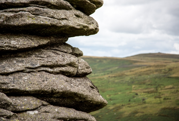 An outcrop of rocks on Dartmoor