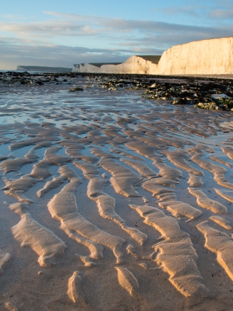 Birling gap at low tide