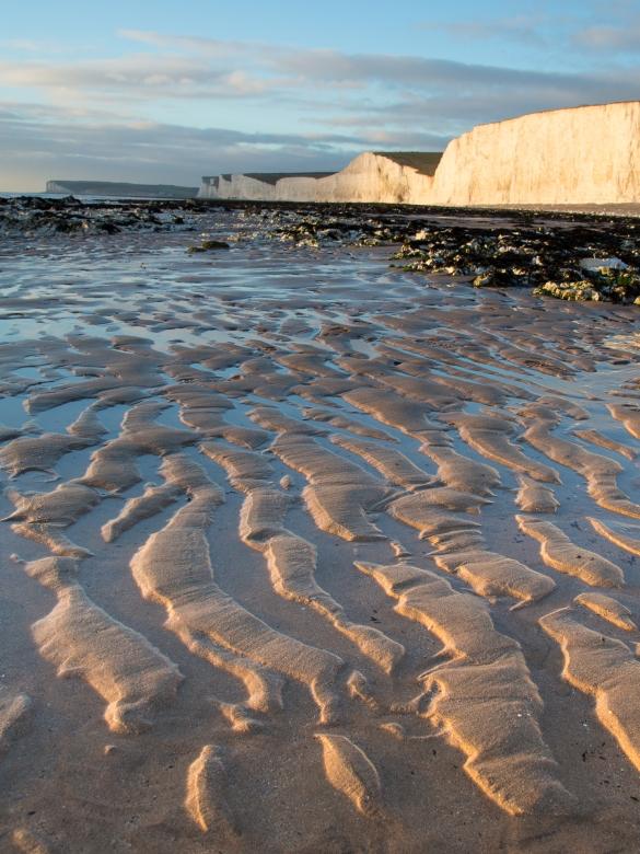 Birling gap at low tide